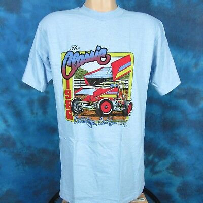 vintage 80s CALISTOGA NON-WING SPRINT CAR RACING T-Shirt S//M world of outlaws