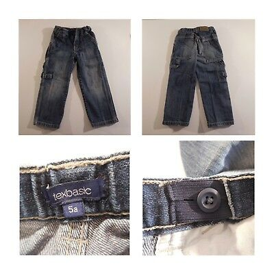 6 Pantaloni Jeans Bambino 5-6 Anni River Woods Okaou Texbasic Ted Walkins N3349 3