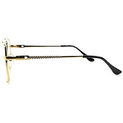844592b1a5d ... Old School Retro Style Hip Hop Mens Womens Nerdy Clear Lens Gold Square  Glasses 3