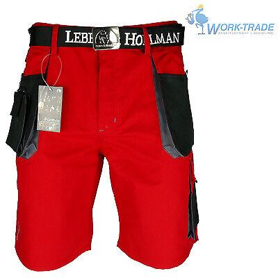 Arbeitshose Kurze Hose Kurz Bermuda Shorts Rot Schwarz Gr. S - XXXL