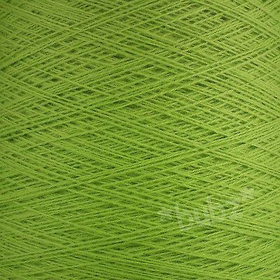 PURE MERINO WOOL 2 3 PLY 500g CONE 10 BALLS LIME GREEN YARN HAND MACHINE KNIT