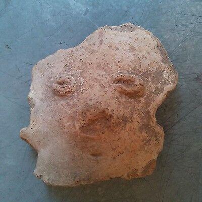 Antique Early Pre Columbian Terra Cota Figure Head South American Lot of 10 瓷 像 4
