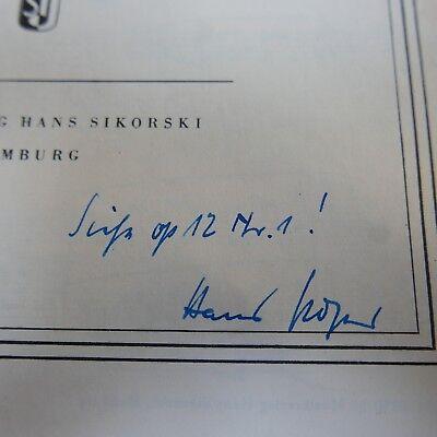 HANS POSER sonatine 2 , piano solo , signed 2