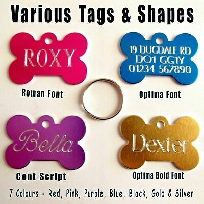 PET ID Tags DOG CAT Puppy Kitten CHEAPEST Name Disc Personalised DEEP ENGRAVING! 8