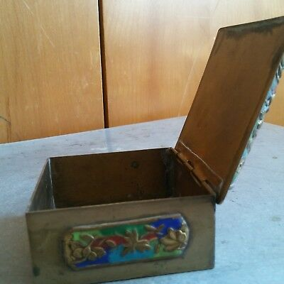 China Antique Cloisonne Brass Box of Dragon  铜 盒 4