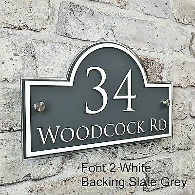 Contemporary House Address Plaques & Door Number Signs Personalised Name Plate 6