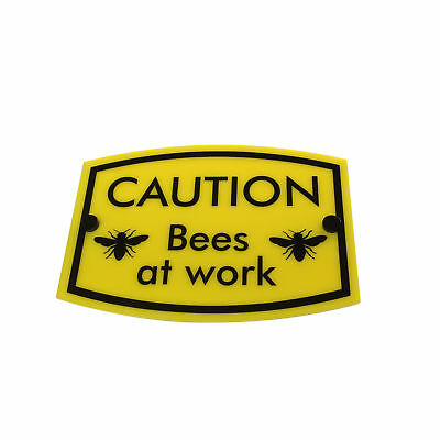 BEE KEEPING Warning Sign 'Bees at work'   water & weather proof   FREE SHIPPING
