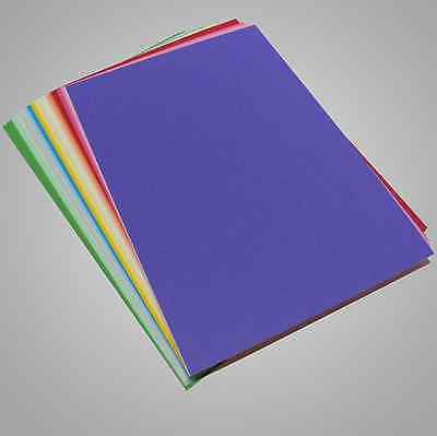 Mixed Colour Card, 160gsm A4 Assorted Coloured 40 Sheet Back to School Pk 2