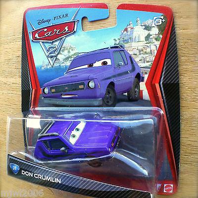 NEW ORIGINAL DISNEY PIXAR CARS 2 DON CRUMLIN #31 NIP PURPLE GREMLIN 2011