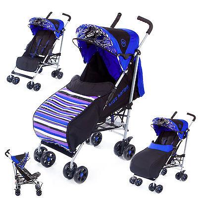Kids Kargo Baby Buggy Pram Stroller Newborn Raincover Footmuff Single Pushchair