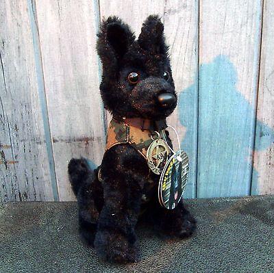 Black German Shepherd Plush Police Dog With K9 Badge Cool Shades K9