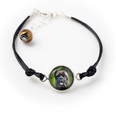 Cane Corso. Bracelet with box for people who love dogs. Photojewelry. UK 3