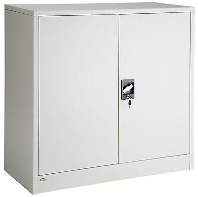 Filing cabinet office storage cupboard metal with 3 shelves tool furniture