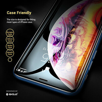 2 X iPhone XS Max XR X Full Coverage Tempered Glass Screen Protector for Apple 8