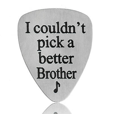 Stainless Steel Engraved Guitar Pick Plectrum GUITARIST BIRTHDAY GIFT Family 2