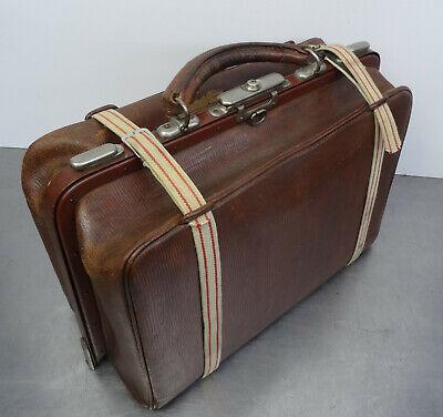 Antike Hebamme Doktor Koffertasche Koffer Arzt Leder Tasche 7