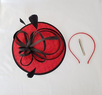 Large Headband and Clip Hat Fascinator Weddings Ladies Day Race Royal Ascot 2