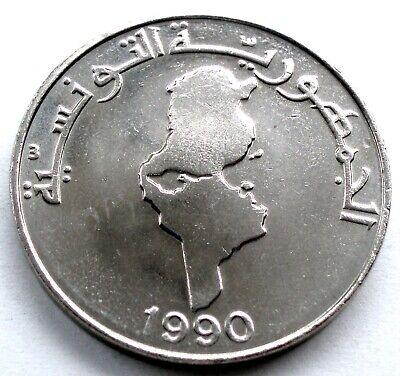 TUNISIA 1 DINAR 1990 KM#319 Series F.A.O. TT4.1 2