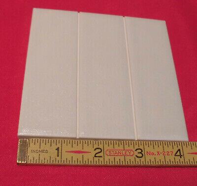 "Ceramic Tiles...Crystalline White /& Scored...NOS...American Olean 4-1//4/"" 5 pcs"