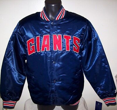 quality design 2c8d0 754aa NEW YORK GIANTS Starter Throwback Style NFL Jacket BLUE S M L XL 2X