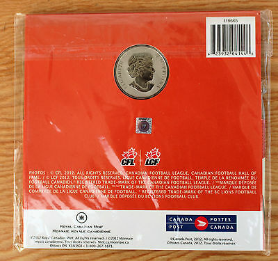 2012 BC Lions Grey Cup Canada Commemorative Quarter and Two Stamps 2