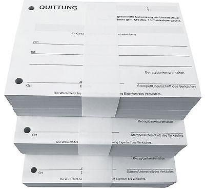 QUITTUNGSBLOCK Kleinunternehmer, 100 BLatt QUITTUNG, DIN A6 gelocht (22426) 5