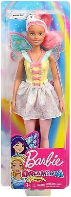 Barbie FXT03 Dreamtopia Fairy Doll - Pink Haired Doll with Yellow Dress 2
