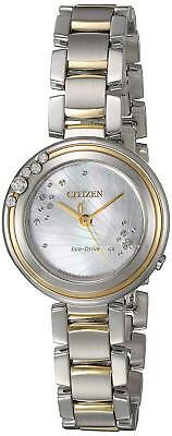 Citizen Eco-Drive Carina Women's EM0464-59D Diamond Accents Two-Tone 28mm Watch 2