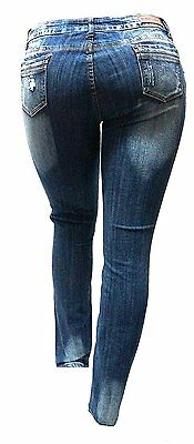 61fdc251a1241 ... WOMENS PLUS SIZE Ripped Distressed Patches BLUE Denim Jeans Patch  Stretch pants 4