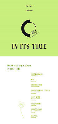 ONEUS IN ITS TIME 1st Single Album CD+POSTER+Photo Book+3p Card+F.Poster+Sticker 8