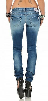 Herrlicher Piper Straight Denim D9666 710 Blau Damen Jeans Hose
