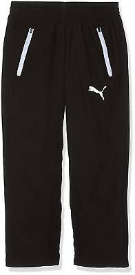 New Puma Childrens Leisure Warmup Pants Black SweatPants TrackPants Joggers 5-6Y 2
