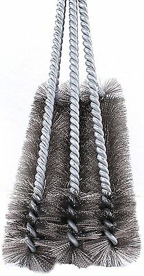 """BBQ Grill Brush Cleaner 18"""" Grilling Tool Cleaning Stainless Steel Woven Wire 3"""
