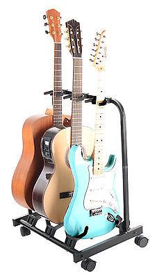 Gitarrenständer Akustik Konzert Western Gitarre Stativ Ständer E-Gitarre blau