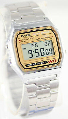Casio Classic Digital Stainless Steel Alarm Stopwatch Casual Watch A158WEA-9 New 4