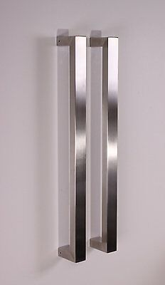 Attrayant 3 Of 5 Square Pull Long Door Handle Entry Modern Pulls  Stainless Steel
