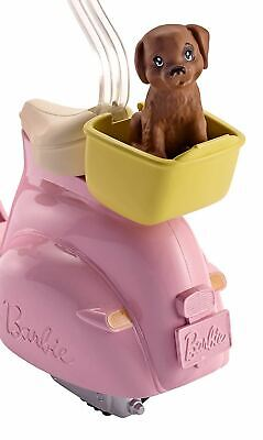 Barbie FRP56 Moped Pink Scooter for Doll with Puppy & Accessories Toy 4
