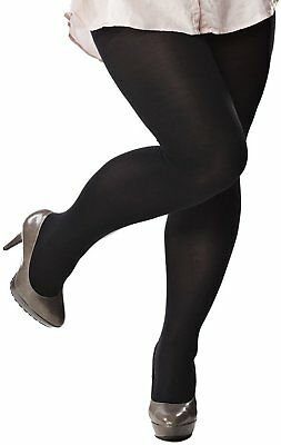 Plain 40 denier Black Semi Opaque Tights Plus Size 6x-7x
