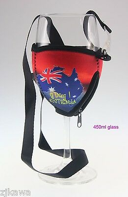 4x Wine Glass Cooler Insulator Holder with Lanyard AUSTRALIA Souvenir 6