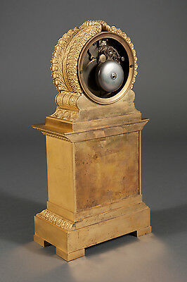 French Antique Charles X Ormolu Bronze Mantel Clock Depicting Cupid & Psyche 6