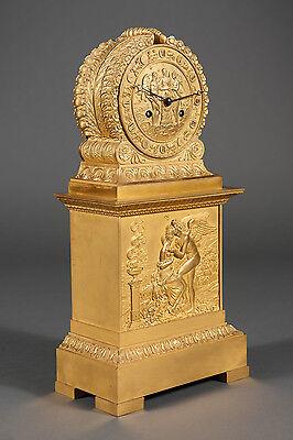 French Antique Charles X Ormolu Bronze Mantel Clock Depicting Cupid & Psyche 9