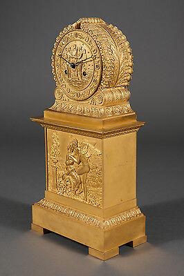 French Antique Charles X Ormolu Bronze Mantel Clock Depicting Cupid & Psyche 3