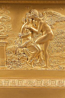 French Antique Charles X Ormolu Bronze Mantel Clock Depicting Cupid & Psyche 10