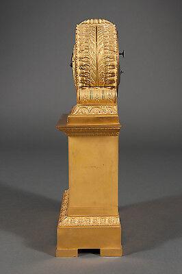 French Antique Charles X Ormolu Bronze Mantel Clock Depicting Cupid & Psyche 4