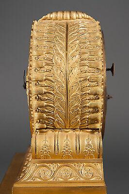French Antique Charles X Ormolu Bronze Mantel Clock Depicting Cupid & Psyche 5