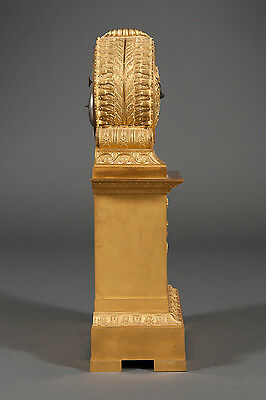 French Antique Charles X Ormolu Bronze Mantel Clock Depicting Cupid & Psyche 8