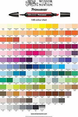Promarker Pantone Winsor&Newton pennarelli doppia punta Pantoni 148 colori 3