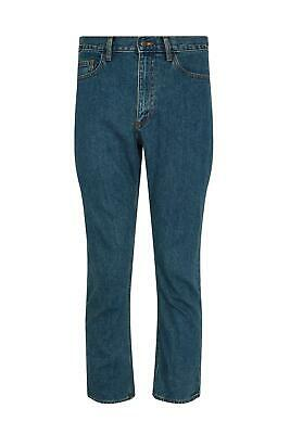 Mens Casual 100% Cotton Zip Fly Blue Pants Regular Fit Straight Leg Denim Jeans 5