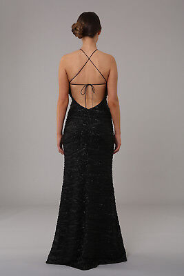 ... Honor Gold Harley Sequin Maxi Evening Dress Backless Design Long Ball  Prom Gown 4 b16e9aca9
