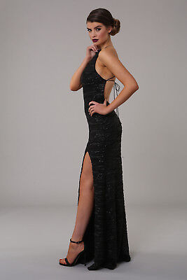 ... Honor Gold Harley Sequin Maxi Evening Dress Backless Design Long Ball  Prom Gown 2 3364d041b